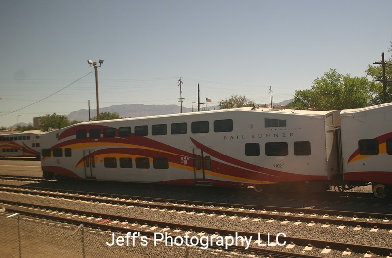 New Mexico Rail Runner Bombardier Bi-Level Cabcar No. 1102
