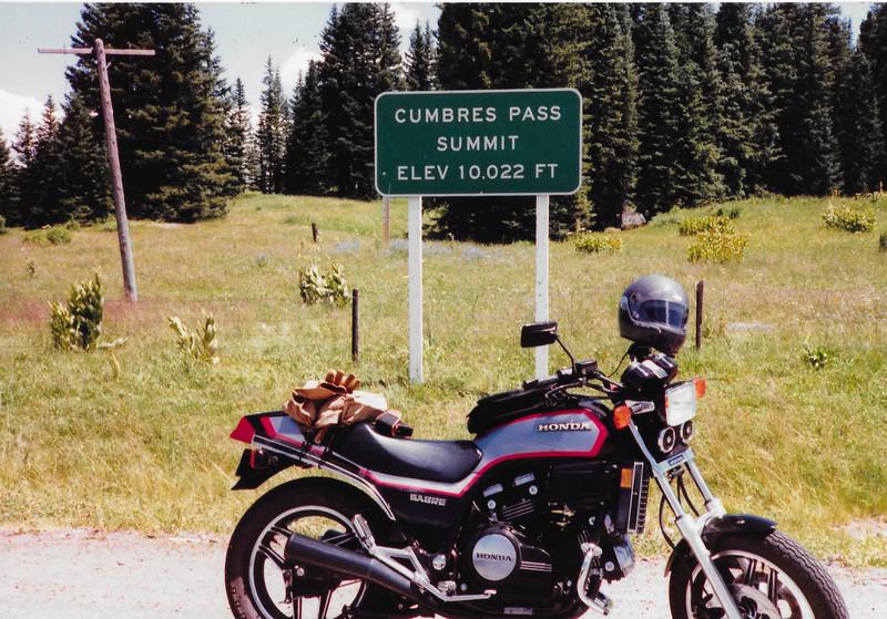 Summit of Cumbres Pass (7/31/1986).