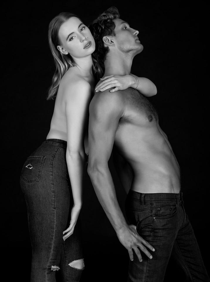 Models: Charlotte Reardon (MSA Models)) and Shaw McKean, MUA: Ximena Ocha