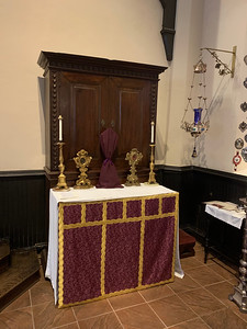 All Saints Altar closed
