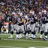 The Patriots Offensive line heading to the line of scrimmage at the New England Patriots vs Pittsburgh Steelers  2017 NFL AFC Conference Championships football game on Sunday 1-22-2017 @ Gillette Stadium, Foxboro, MA.  Patriots-36, Steelers-17.  Matt Parker Photos