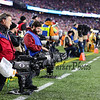 CBS sideline camera crew at the New England Patriots vs Pittsburgh Steelers  2017 NFL AFC Conference Championships football game on Sunday 1-22-2017 @ Gillette Stadium, Foxboro, MA.  Patriots-36, Steelers-17.  Matt Parker Photos