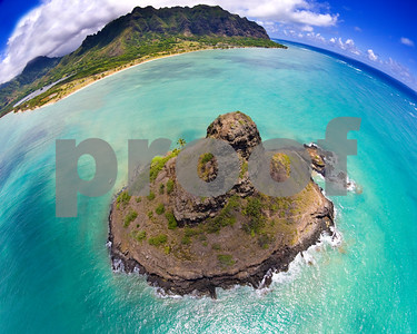 "Mokolii Island or ""Chinaman's Hat"" off shore Kualoa"
