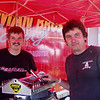 Hey, check these guys out!!!!  They're the Dustman Brothers from Malvern, Ohio.  They're back in the drag racing scene and coming back strong. This was the first time we had met.