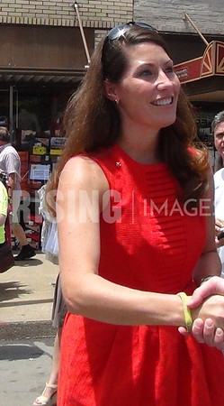 Alison Lundergan Grimes At Beer Cheese Festival In Winchester, KY
