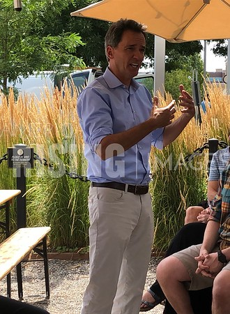 Andrew Romanoff attends a meet & greet at Cooper Door Coffee Roasters in Denver, CO