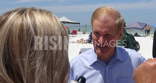Bill Nelson At Hands Across the Sand In Clearwater Beach, FL