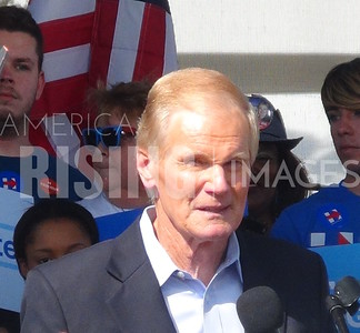 Bill Nelson At Hillary Clinton Campaign Rally In Tampa, FL