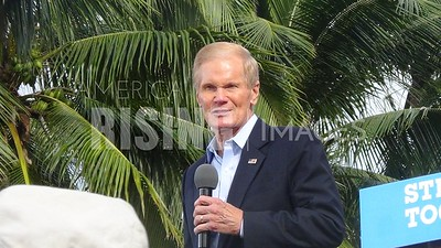 Bill Nelson At Hillary Clinton Campaign Rally In West Palm Beach, FL