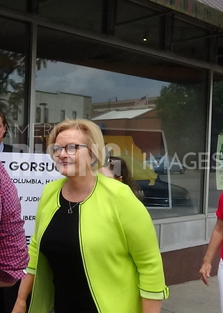 Claire McCaskill At Canvassing Event In Columbia, MO