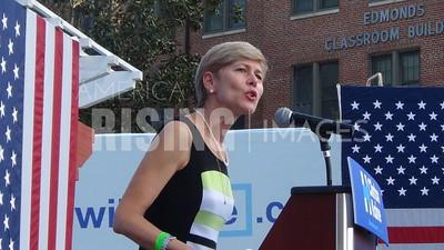 Deborah Ross At Hillary Clinton Campaign Rally At North Carolina Central University In Durham, NC