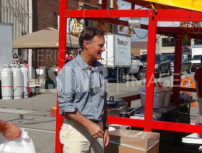 Evan Bayh At Strassenfest In Jasper, IN