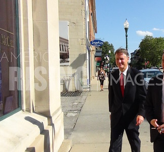 Evan Bayh At Meet And Greet At Mosley, Bertrand And McCall Law Office In Jeffersonville, IN