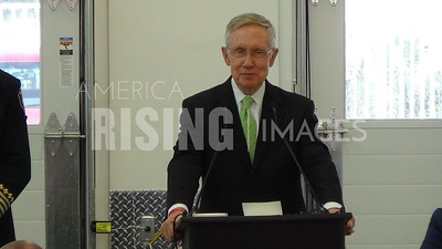 Harry Reid At Fire Station 108 Grand Opening In Las Vegas, NV