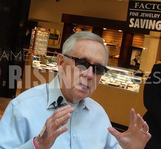 Harry Reid At Early Voting Station With Jacky Rosen At Galleria Mall In Henderson, NV