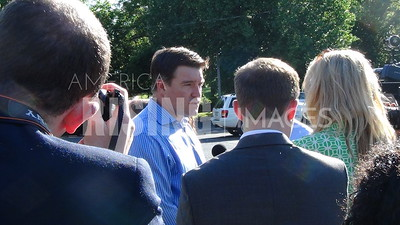 Jack Conway At Primary Vote In Louisville, KY