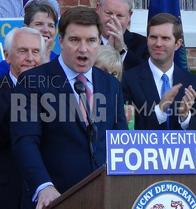 Jack Conway At Primary Election Day Conference In Frankfort, KY