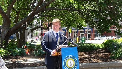 Jack Conway at Marathon Oil Lawsuit Press Conference in Louisville, KY