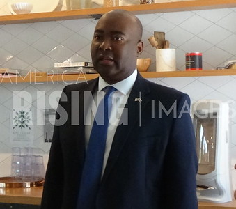 Jaime Harrison Attends Campaign Event In Charleston, SC