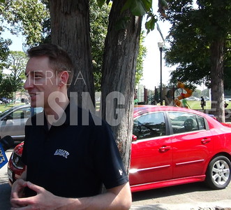 Jason Kander At Labor Day Parade And Picnic In Springfield, MO