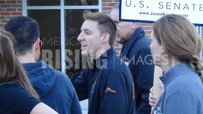Jason Kander At Mizzou Homecoming Parade In Columbia, MO