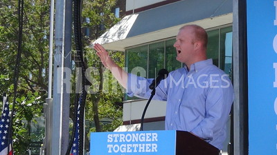 Jim Mowrer At Hillary Clinton Early Vote Event In Des Moines, IA