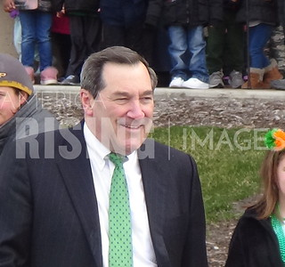Joe Donnelly At St. Patrick's Day Parade In Indianapolis, IN