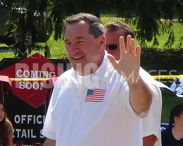 Joe Donnelly At Carmelfest Parade In Carmel, IN
