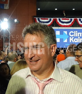Joe Garcia At Clinton/Kaine Rally At Miami Dade College In Miami, FL
