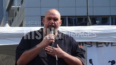 John Fetterman At Bernie Sanders Rally In Pittsburgh, PA
