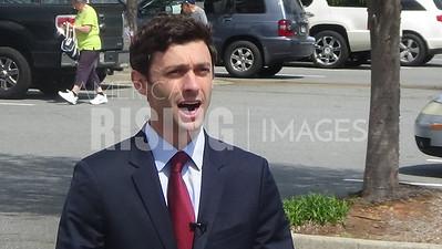 Jon Ossoff At Early Vote Rally In Marietta, GA
