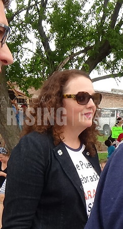 Kara Eastman At Family Separation Rally In Omaha, NE