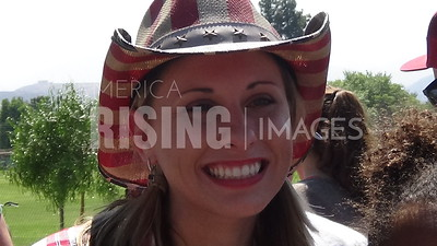 Katie Hill At Santa Clarita 4th Of July Parade In Santa Clarita, CA