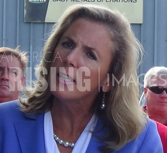 Katie McGinty At Press Conference In Erie, PA