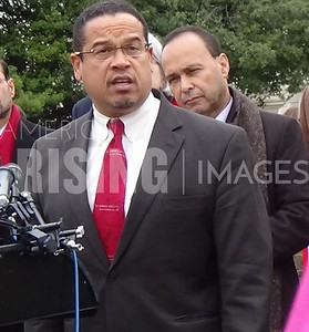 Keith Ellison At Press Conference On Immigation Ban In Washington, DC