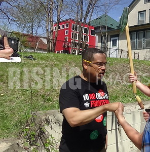 Keith Ellison At May Day Parade In Minneapolis, MN