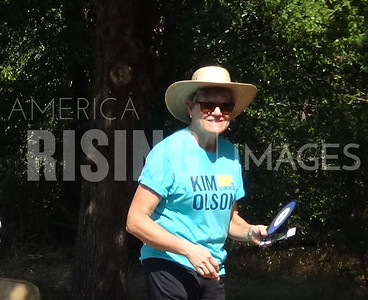 Kim Olson At Labor Day Picnic In Arlington, TX