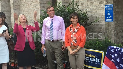 Luann Bennett At Hillary Clinton Campaign Meet And Greet With Mark Warner In Mclean, VA