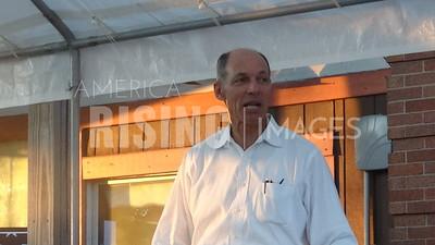 Michael Franken attends meet and greet in Shenandoah, IA