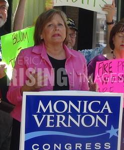 Monica Vernon At Anti-Discrimination Rally In Cedar Rapids, IA