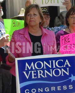 Monica Vernon At Anti-Discrimination Rally In Cedar Rapids, IA