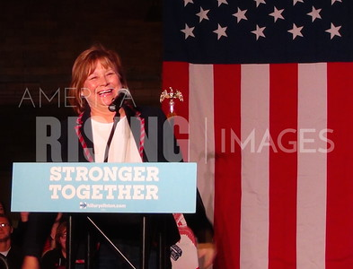 Monica Vernon At Hillary Clinton Campaign Rally At National Cattle Congress In Waterloo, IA