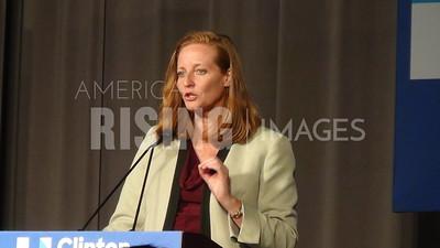 Morgan Carroll At Hillary Clinton Campaign Rally In Denver, CO
