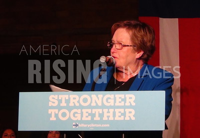 Patty Judge At Hillary Clinton Campaign Early Vote Event In Waterloo, IA