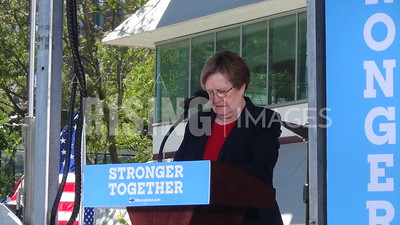 Patty Judge At Hillary Clinton Campaign Early Vote Event In Des Moines, IA