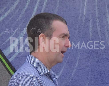 Ralph Northam attends a campaign meet and greet at Croc's in Virginia Beach, VA