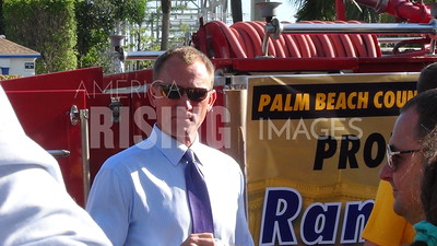Randy Perkins At Press Conference At Campaign Office In North Palm Beach, FL