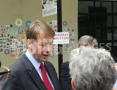 Richard Cordray At Past Foundation Press Conference In Columbus, OH