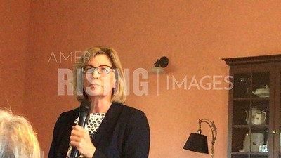 Rita Hart attends meet and greet in Newton, IA
