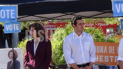 Ruben Kihuen At 'Get Out The Vote' Event With Catherine Cortez Masto, Joaquin Castro, And Julian Castro At UNLV In Las Vegas, NV